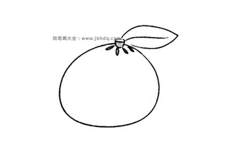 简单的橙子简笔画图片