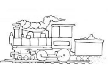 蒸汽火车简笔画图片