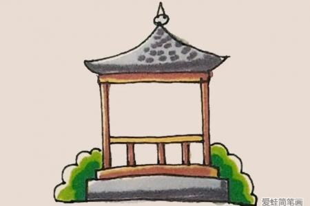 简笔画之凉亭