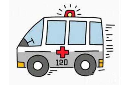 简笔画救护车的画法