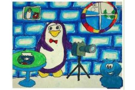 企鹅摄影家创意动物画作品欣赏