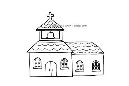 波浪形瓦顶的小教堂