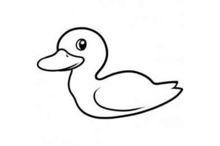 小鸭子简笔画怎么画