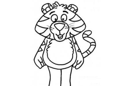 关于虎的简笔画