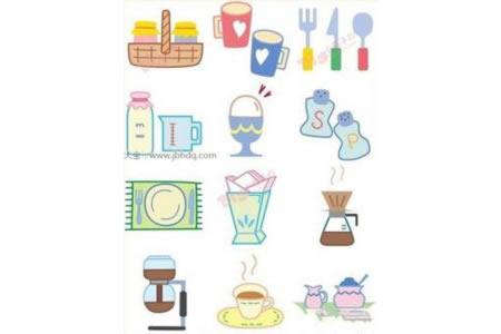 餐具简笔画图片