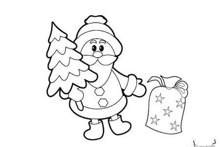 两张简单的圣诞老人简笔画