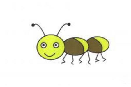蚂蚁简笔画步骤