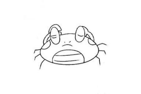 四张螃蟹简笔画图片