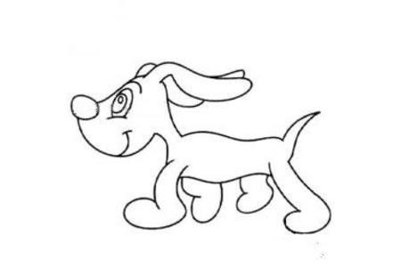 乖巧的小狗简笔画