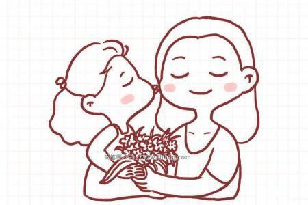 8张漂亮的母亲节简笔画图片