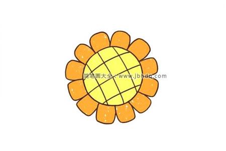 向日葵花瓣简笔画图片