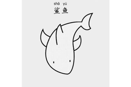 鲨鱼怎么画