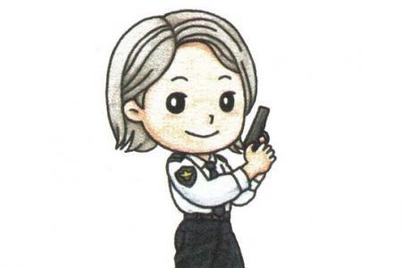 一步一步学画女警察