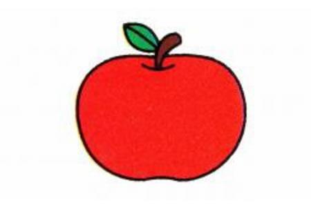 苹果简笔画画法