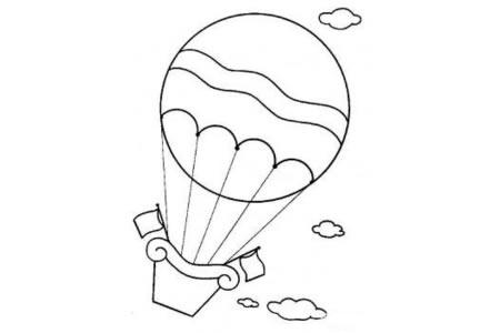 交通工具简笔画大全 热气球简笔画