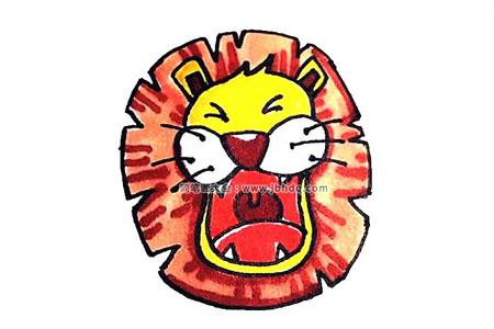 学画狮子头