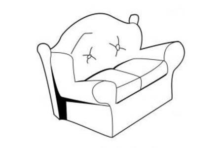 家具简笔画 沙发简笔画