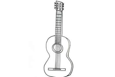 吉他的简笔画画法