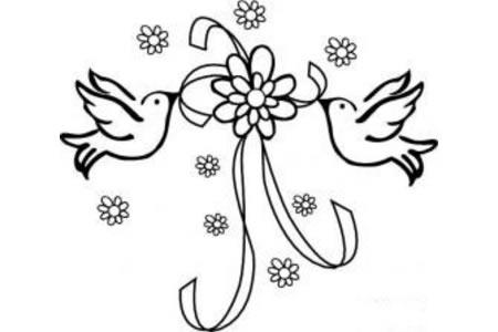 庆国庆 和平鸽简笔画图片