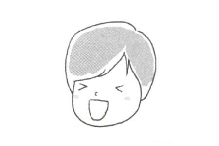 开心的表情简笔画教程
