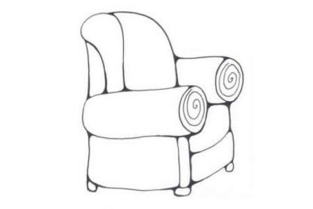 小学生沙发简笔画图片