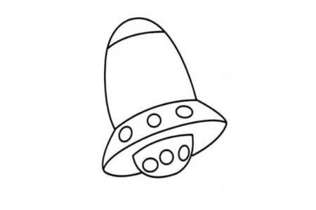 宇宙飞船简笔画图片