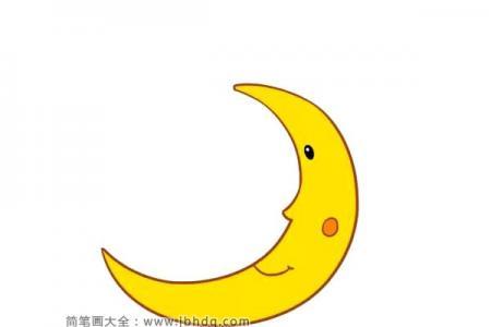 可爱的卡通月亮