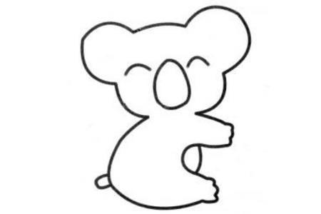 幼儿考拉简笔画