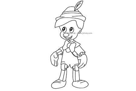 动漫人物简笔画匹诺曹
