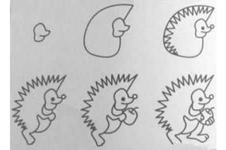 小刺猬素材画法