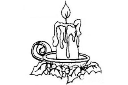 蜡烛燃烧的火焰简笔画