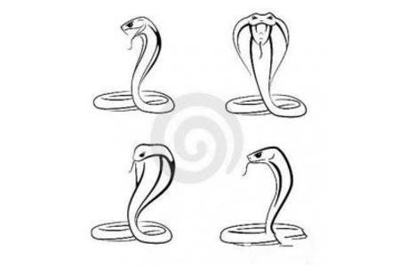 蛇的简笔画图画