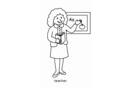 英语老师简笔画
