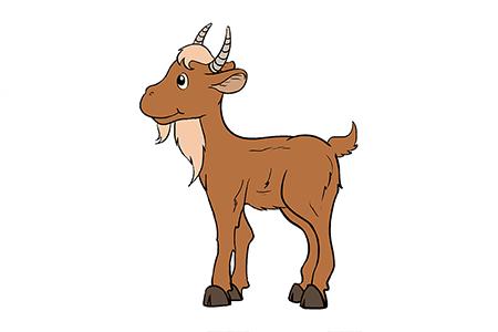 很容易学的山羊简笔画