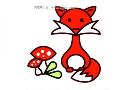 简单卡通狐狸简笔画图片