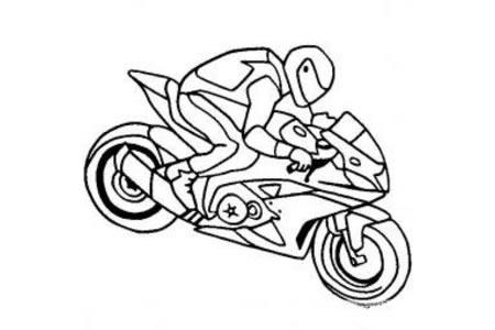 摩托车简笔画 摩托车和赛车手