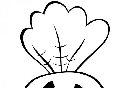 可爱的卡通胡萝卜