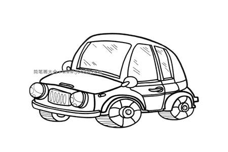 简笔画图片嘟嘟嘟小汽车