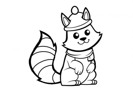 戴着帽子的可爱松鼠简笔画图片