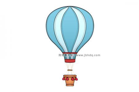 漂亮的蓝色热气球