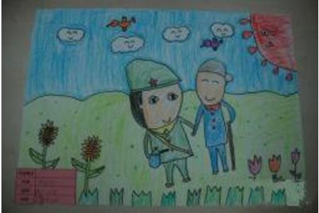 学雷锋儿童画图片-学习雷锋做好事