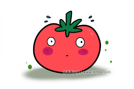 吃惊的西红柿简笔画教程