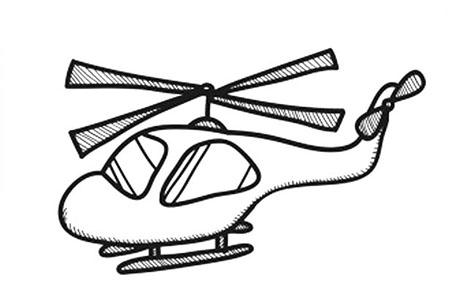 可爱的直升机简笔画图片
