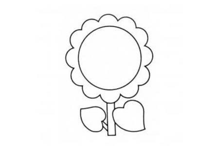 圆圆的向日葵