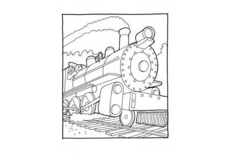 火车图片 蒸汽火车简笔画图片