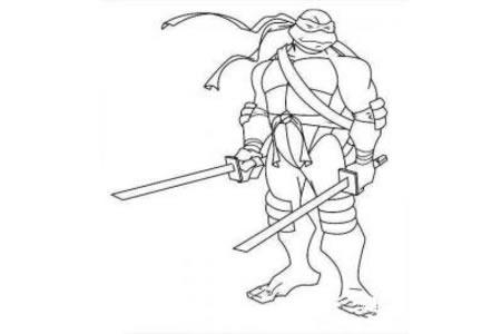 忍者神龟简笔画图片