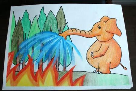 画消防 大象消防员