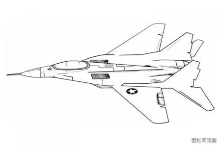 飞翔的战斗机简笔画图片