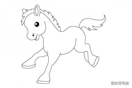 画可爱的小马简笔画教程