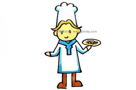 学画厨师简笔画